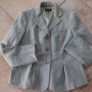 TALBOTS 100% Wool Peplum Button Front Jacket Blazer 14