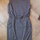 NWOT ATHLETA Striped Stretch Jersey Sheath Ruched  Dress XS