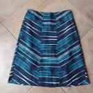 LAVIA Blue Striped Slight  A-Line Skirt 42