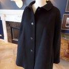 TALBOTS Black Wool Blend  Classic Pea Coat  Jacket 1X Petite