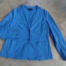 TALBOTS Ponte Jersey Blue Blazer Jacket LP