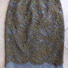 NWT ANN TAYLOR LOFT Olive/Gray Classic Straight  Pencil Skirt 0