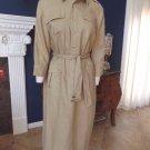 NWT RALPH LAUREN Button Front 100% Linen Midi Length  Sheath Dress L