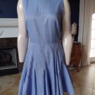 JUICY COUTURE Blue 100% Cotton Fit & Flare Sheath Dress 8