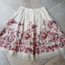 Anthropologie ODILLE Floral Printed A Line 100% Cotton Embroidered Skirt 0