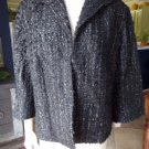 LAFAYETTE 148 NEW YORK  Black Tweed Swing 3/4 Bell Sleeve Jacket Blazer 16