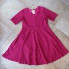 Anthropologie Hella Bird Pink Fit & Flare Short Sleeve Dress XXL