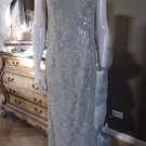 KAY UNGER Beaded Beige/Gray Long Gown Evening Dress 4