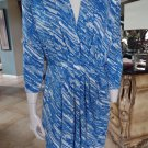 ANNE KLEIN Printed 3/4 Sleeve Jersey Stretch Sheath Dress M