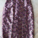 J CREW COLLECTION  Metallic  Brocade Floral Straight Pencil Skirt 6