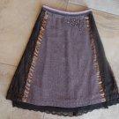 ANTHROPOLOGIE ELEVENSES Beaded Lace Detail Tweed Slight A Line Skirt 4