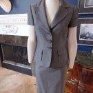 TAHARI Arthur S. Levine Gray Short Sleeve Blazer & Pencil Skirt Suit 4