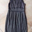 ANN TAYLOR Black/Silver Hounds tooth Sheath Dress 2