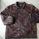 Royal Prestige  Faux Snake Skin Faux Fur Zip Front Jacket 5X