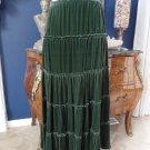 JONNY WAS Forest Green Velvet Midi Length A Line Skirt M