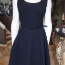 BANANA REPUBLIC Black Knit Carrie Belted Sheath Dress 8 Ponte