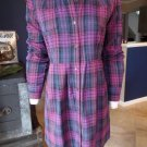 Walter Plaid Flannel Button Up Long Sleeve Shirt Dress S