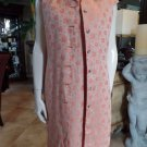VINTAGE 2 Pc 100% linen Shift Dress & Longer Jacket Suit Outfit  8