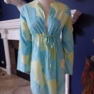 VICTORIA'S SECRET Blue/Yellow/Green Floral Bathing Suit Cover Up Dress XS/S