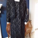 NIPON BOUTIQUE Black Sleeveless Lace Sheath Dress and Matching Blazer 12 Suit