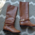 NEW Ralph Lauren Jenny Leather Tall Riding equestrian Boots POLO TAN 7.5
