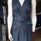 DKNY DONNA KARAN Navy Sleeveless Wrap Waist Sheath Dress 6