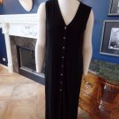 CHICO'S Travelers Black Button Front Stretch Maxi Dress 1