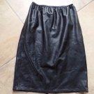 Cashmere Cashmere 100% Leather Elastic Waist Pencil Skirt M