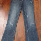 CHIP & PEPPER Distressed Cropped Stretch Denim Jean 29