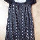 ELIE TAHARI Black Short Sleeve Eyelet Lace Shift Dress 0