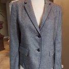 GAP Gray Tweed Button Front Academy Classic Jacket Blazer 10