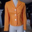 NWT RALPH LAUREN Orange 100% Linen Long Sleeve Jacket Blazer 2P