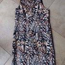 NWT RICHARD MAICOLM Printed Linen Blend Beaded Sheath Dress 4