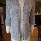 EILEEN FISHER !00% Cotton Open Front Loose Knit Cardigan Sweater LP