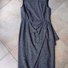 AQUILANO RIMONDI Printed Faux Wrap Draped Sheath  Dress 42 Italy made