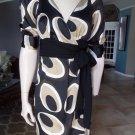 BANANA REPUBLIC Printed Short Sleeve Wrap Dress 2