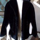 Vintage Black Faux Fur Cape Jacket M/L