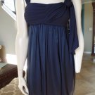 BCBG MAX AZRIA Navy 100% silk Skirt Bubble Hem Cocktail Sun Dress 2