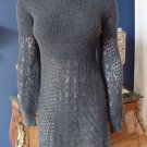 Anthropologie Knitted & Knotted Gray 100% Alpaca Sweater Dress S