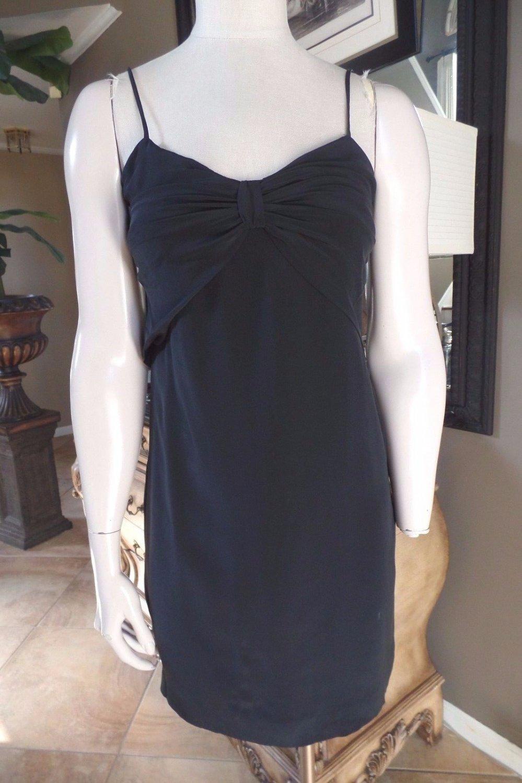 CLUB MONACO Black 100% Silk Slip Mini Shift Dress 0