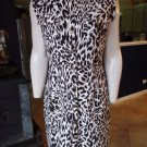 CALVIN KLEIN Animal Print Short Sleeve Snap Front Shirt  Sheath Dress 10