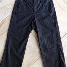 Not Your Daughter's Jeans Cropped Linen Blend Black Capri Pants 4