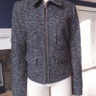 NWT ANN TAYLOR LOFT Felted Wool Blend Zip Front Bomber Blazer Jacket L