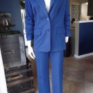 MICHEAL KORS Blue Ponte Blazer And Pant Suit M/8