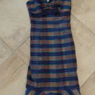 BETSEY JOHNSON Plaid Fitted Midi Length Wiggle Pinup Holiday Sheath Dress 2