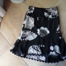 NANETTE LEPORE Floral Silk A Line Hi Low Hem Skirt 6