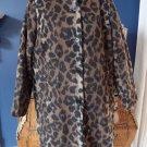 CENTIGRADE Animal Print Wool Blend  3/4 Length Coat Jacket 1X