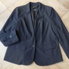 LANE BRYANT Gray Pinstriped Classic Blazer Jacket 16