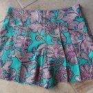 NWT ANN TAYLOR Green Paisley Print Skorts/Shorts 2