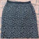 ANN TAYLOR Black/Gray Animal Print Pencil Skirt 4
